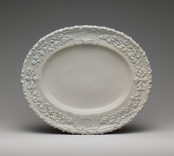 Platter, Doccia Porcelain Manufactory (Italian, 1737–1896), Hard-paste porcelain, Italian, Florence