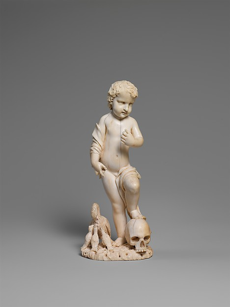 Christ Child with Pelicans, Ivory, probably Flemish