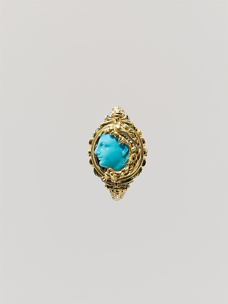 Alexander the Great (?), Turquoise, enamel, gold, probably Italian