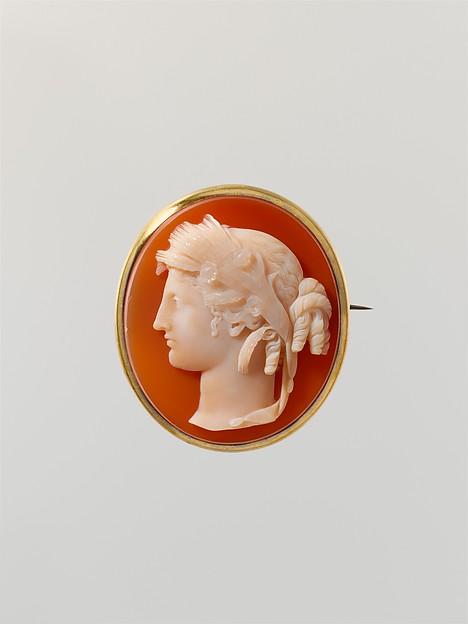 Head of Ceres, Sardonyx and silver-gilt, Italian or French