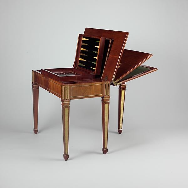 Game Table, David Roentgen (German, Herrnhaag 1743u20131807 Wiesbaden, Master  1780
