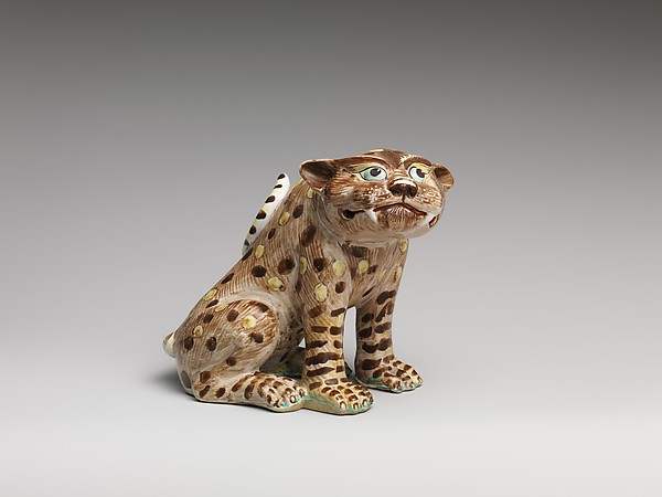 Leopard, Chantilly (French), Soft-paste porcelain, French, Chantilly
