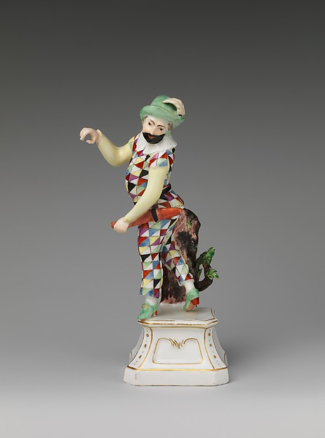 Harlequin, Höchst Manufactory (German, 1746–1796), Hard-paste porcelain, German, Höchst