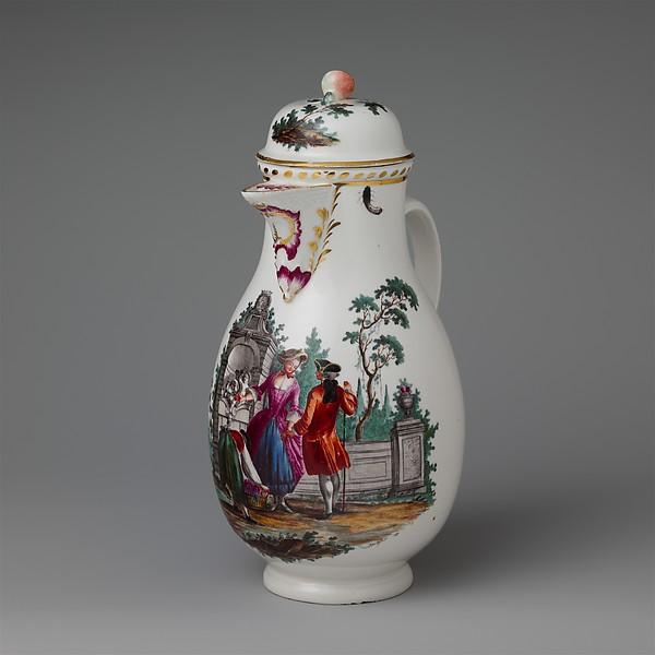 Coffeepot, Höchst Manufactory (German, 1746–1796), Hard-paste porcelain, German, Höchst