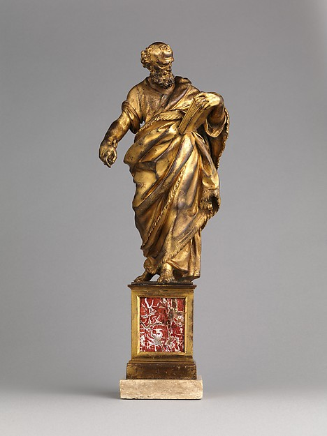 Saint Peter, Cosimo Fanzago (Italian, born Lombard, active chiefly in Naples, 1591–1678), Gilt bronze, Italian, Naples
