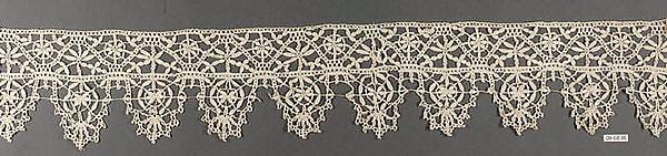 Border, Bobbin lace, Italian, Genoa