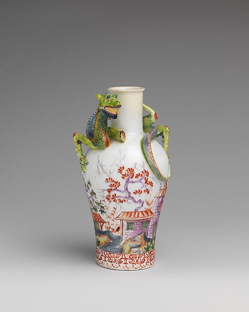 Vase (one of a pair), Vienna, Hard-paste porcelain, Austrian, Vienna