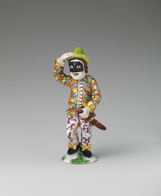 Harlequin, Vienna, Hard-paste porcelain, Austrian, Vienna
