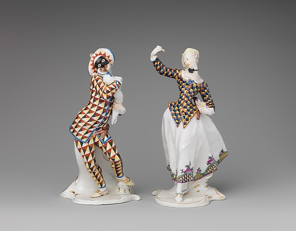 Harlequin, Nymphenburg Porcelain Manufactory (German, 1747–present), Hard-paste porcelain, German, Neudeck-Nymphenburg