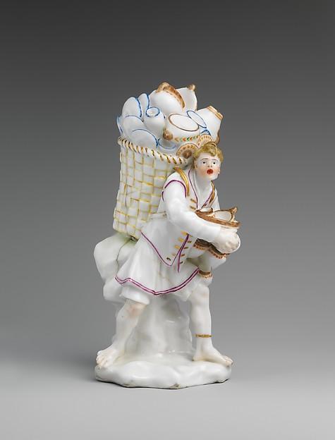 Pottery seller, Capodimonte Porcelain Factory (Italian, 1740/43–1759), Soft-paste porcelain, Italian, Naples