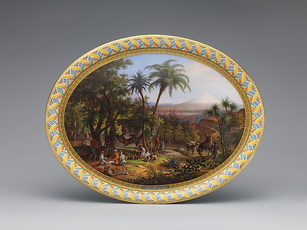 Tray, Sèvres Manufactory (French, 1740–present), Hard-paste porcelain, French, Sèvres