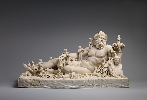 Personification of the River Nile, Giovanni Volpato (Italian, Bassano 1732–1803 Rome), Hard-paste biscuit porcelain, Italian, Rome