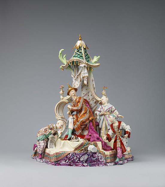 Audience of the Chinese Emperor, Höchst Manufactory (German, 1746–1796), Hard-paste porcelain, German, Höchst