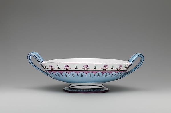 Bowl (jatte à anses relevées or jatte écuelle), Sèvres Manufactory (French, 1740–present), Hard-paste porcelain, French, Sèvres