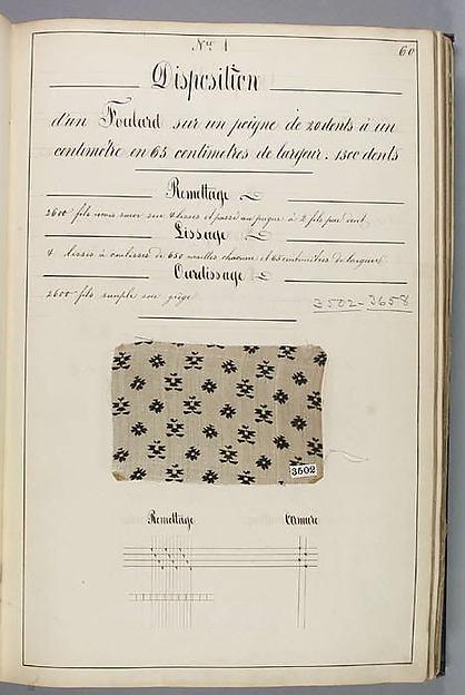 Théorie de la fabrication des étoffes de soie, Silk, paper, French