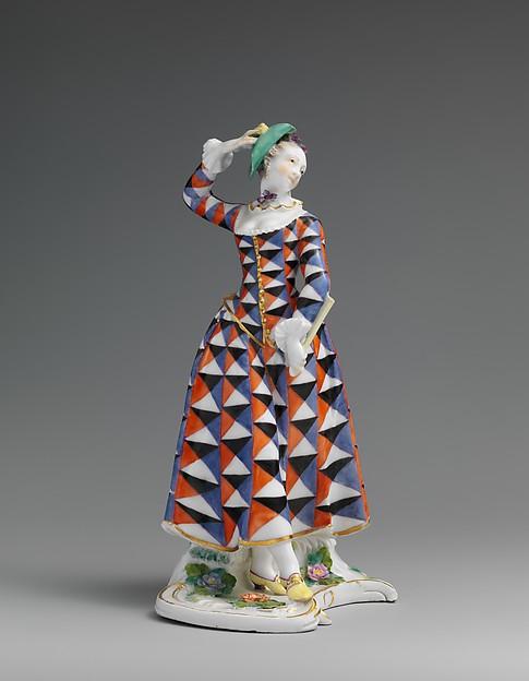 Harlequina, Nymphenburg Porcelain Manufactory (German, 1747–present), Hard-paste porcelain, German, Nymphenburg