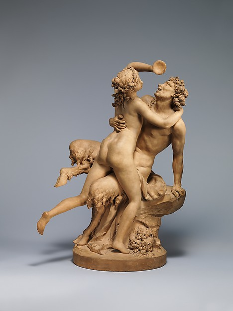 The Intoxication of Wine, Clodion (Claude Michel) (French, Nancy 1738–1814 Paris), Terracotta, French, Paris