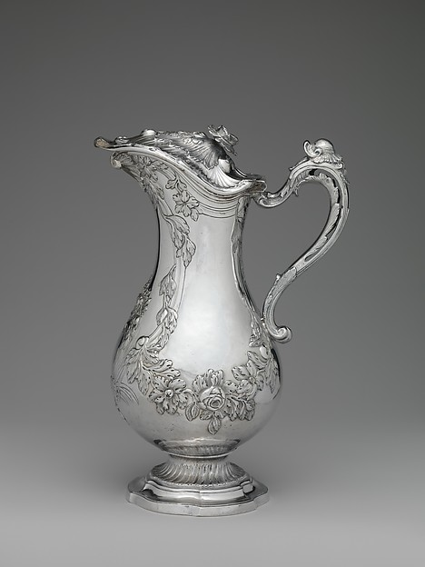 Ewer, Barthélemy Samson (master ca. 1760, died 1782), Silver, French, Toulouse