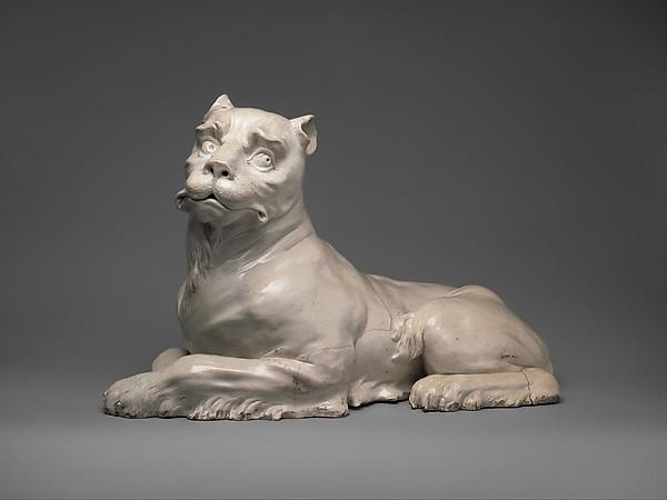 Lioness (one of a pair), Meissen Manufactory (German, 1710–present), Hard-paste porcelain, German, Meissen