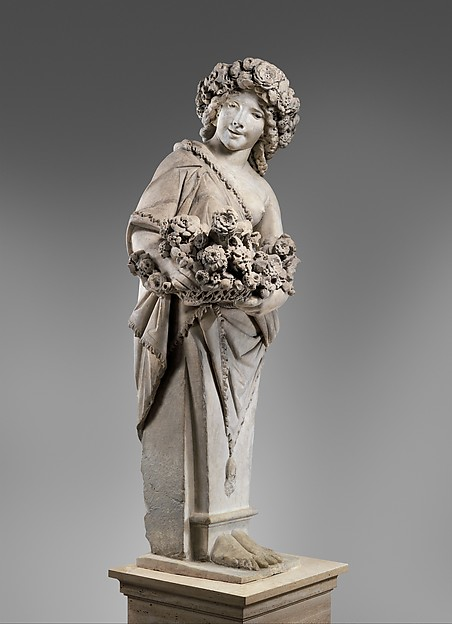 Spring in the guise of Flora (one of a pair), Pietro Bernini (Italian, 1562–1629), Marble, Italian, Rome