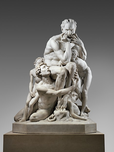 Ugolino and His Sons, Jean-Baptiste Carpeaux (French, Valenciennes 1827–1875 Courbevoie), Saint-Béat marble, French, Paris