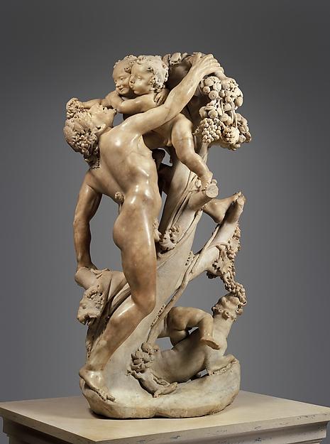 Bacchanal: A Faun Teased by Children, Gian Lorenzo Bernini (Italian, Naples 1598–1680 Rome), Marble, Italian, Rome