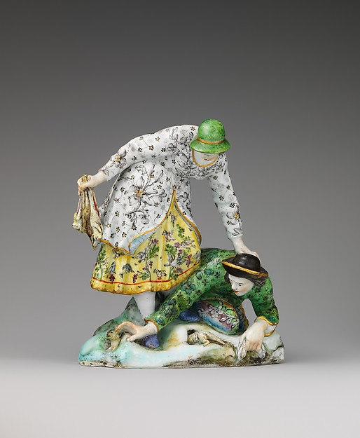 Rabbit Catchers, Capodimonte Porcelain Factory (Italian, 1740/43–1759), Soft-paste porcelain, Italian, Naples (Capodimonte)
