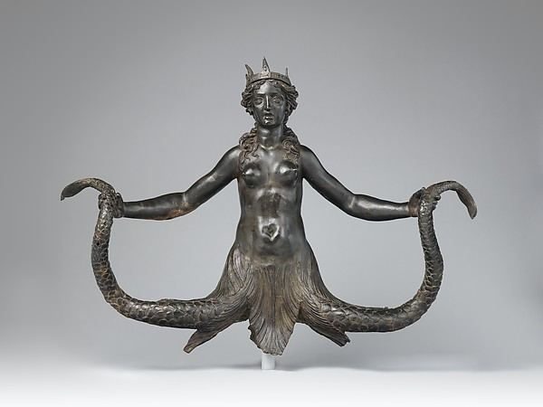 Siren, possibly commissioned by the Colonna family, Rome, Bronze, Italian, Rome