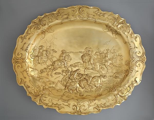 Plateau, Elkington & Co. (British, Birmingham, 1829–1963), Electroformed copper, gilt, British, Birmingham, after German, Augsburg original