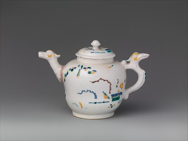 Teapot, Saint-Cloud factory (French, before 1698–1766), Soft-paste porcelain, French, Saint-Cloud
