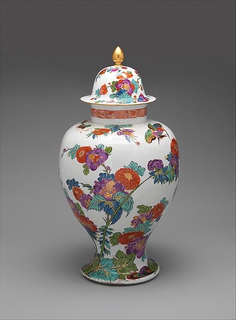 Vase with cover, Meissen Manufactory (German, 1710–present), Hard-paste porcelain, German, Meissen