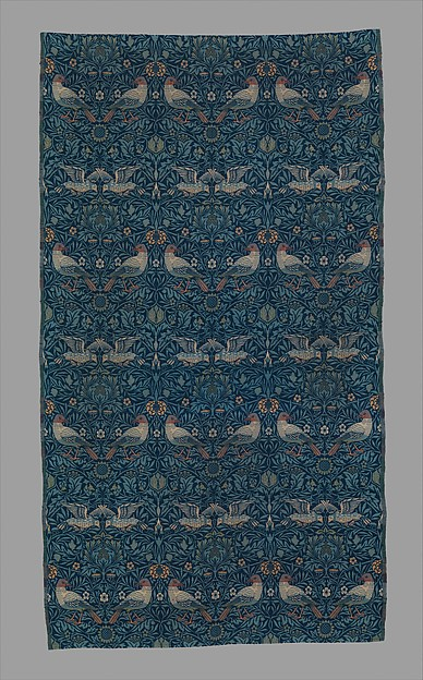 Bird, Designed by William Morris (British, Walthamstow, London 1834–1896 Hammersmith, London), Wool, British, Merton Abbey, Surrey