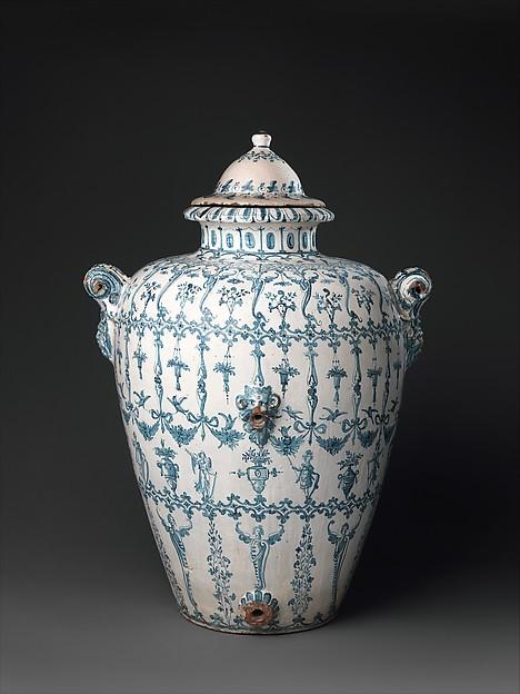 Wine jar (Orcio da vino), workshop of the Marmi family, Maiolica (tin-glazed earthenware), Italian, Montelupo