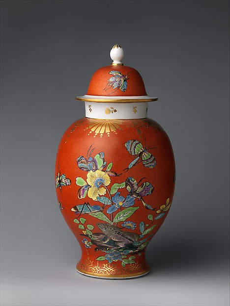 Vase with cover (one of a pair), Meissen Manufactory (German, 1710–present), Hard-paste porcelain, German, Meissen