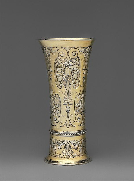 Footed beaker, Gilded silver, Hungarian