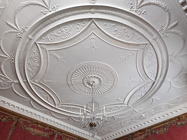 Woodwork and ceiling from the Tapestry Room from Croome Court, Robert Adam (British, Kirkcaldy, Scotland 1728–1792 London), Plaster, wood, tapestry, British