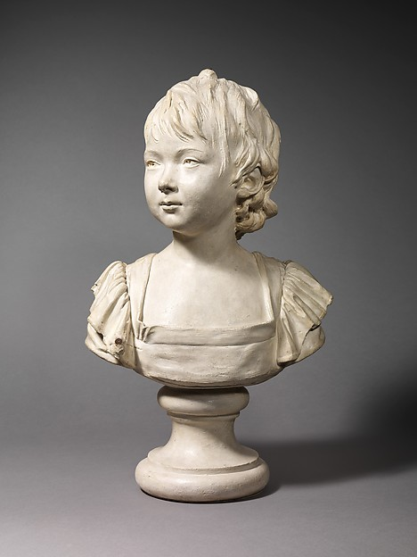 Young girl identified as Anne Audéoud of Geneva (1776–1840), After a composition by Jean Antoine Houdon (French, Versailles 1741–1828 Paris), Plaster, French