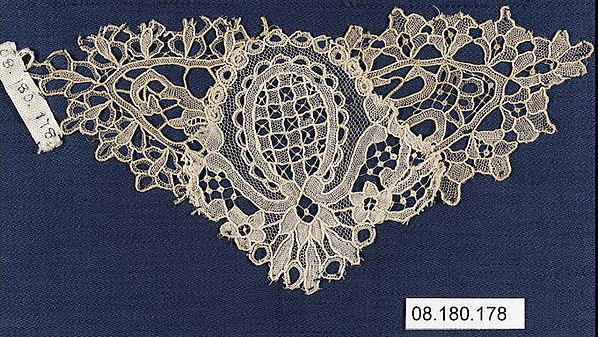 Fragment, Needle lace, Point de Gaze, Belgian