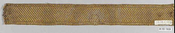Galloon, Silk and metal thread, European
