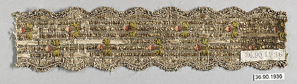 Galloon, Silk and metal thread, French