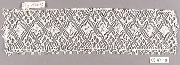 Fragment, Bobbin lace, Swedish (Rättvik) (Dalarna)