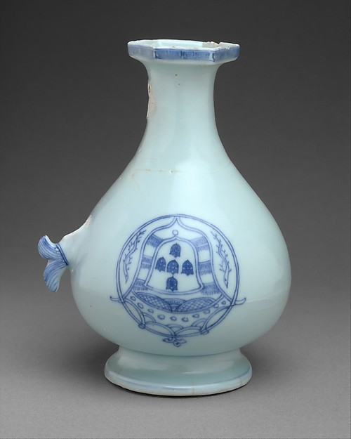 Jug with Portuguese arms, Hard-paste porcelain with cobalt blue under transparent glaze (Jingdezhen ware), Chinese, for Portuguese market