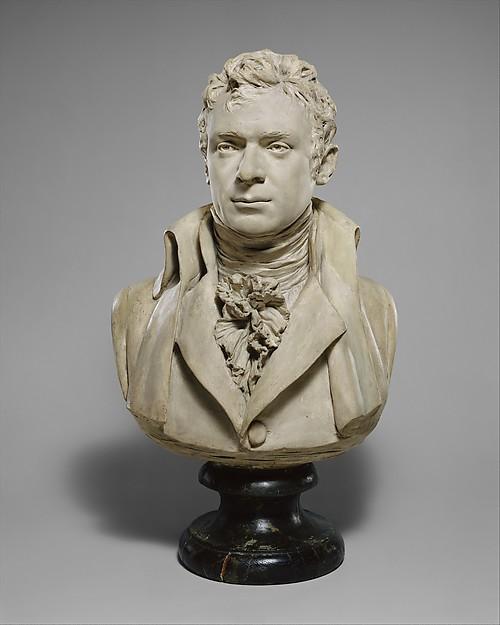 Robert Fulton (1765–1815), Jean Antoine Houdon (French, Versailles 1741–1828 Paris), Painted plaster, French, Paris