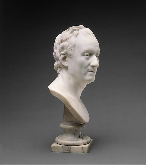 Denis Diderot (1713–1784), Jean Antoine Houdon (French, Versailles 1741–1828 Paris), Marble, French, Paris