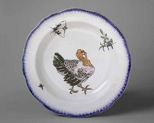 Soup plate (part of a set of three), Félix Bracquemond (French, Paris 1833–1914 Sèvres), Creamware, French, Creil