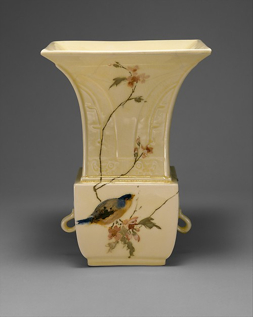 Vase, Haviland & Co. (American and French, 1864–1931), Glazed stoneware, French, Limoges