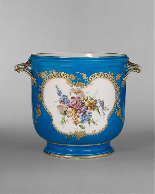 Wine-bottle cooler (seau à bouteille), Vincennes Manufactory (French, ca. 1740–1756), Soft-paste porcelain, French, Vincennes