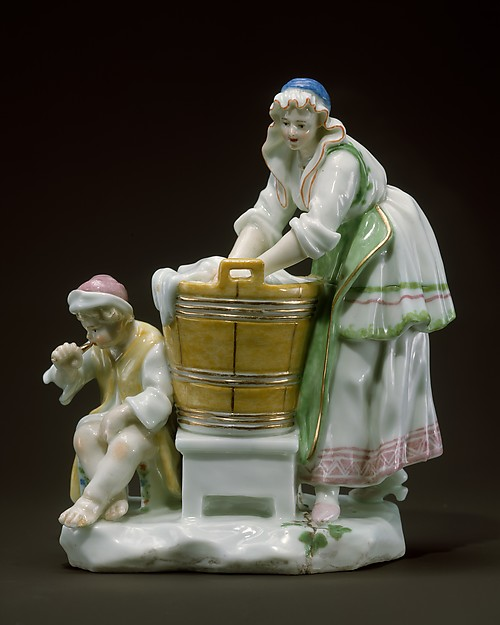 The Washerwoman, Capodimonte Porcelain Factory (Italian, 1740/43–1759), Soft-paste porcelain, Italian, Naples (Capodimonte)