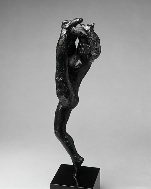 "Dance Movement ""G"", Auguste Rodin (French, Paris 1840–1917 Meudon), Bronze, black marble base, French"