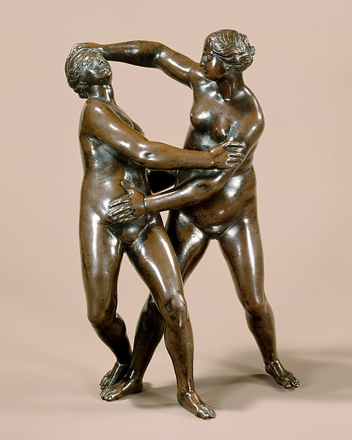 Nude Women Wrestling, After a composition by Leonhard Kern (German, Forchtenberg, Hohenlohe 1588–1662 Schwäbisch Hall), Bronze, with medium brown natural patina and traces of dark lacquer, German